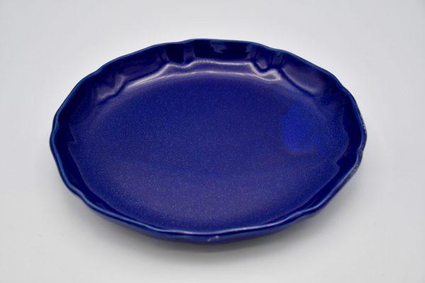 丸皿(ルリ色)