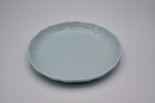 丸皿(薄ブルー)