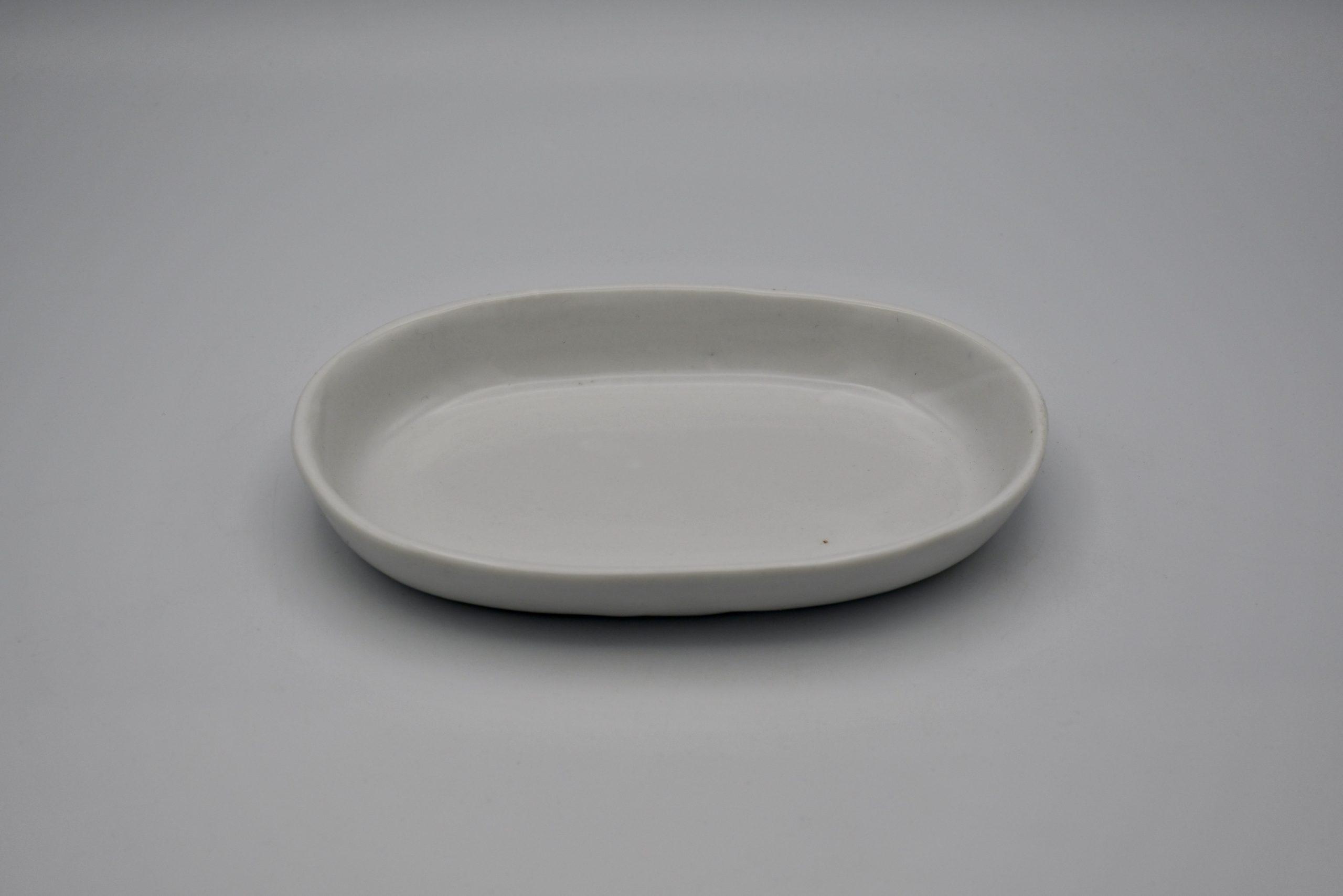 楕円浅鉢(白)