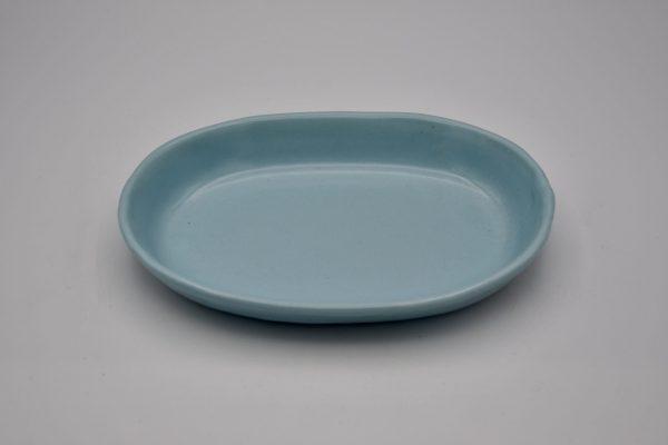 楕円浅鉢(薄ブルー)