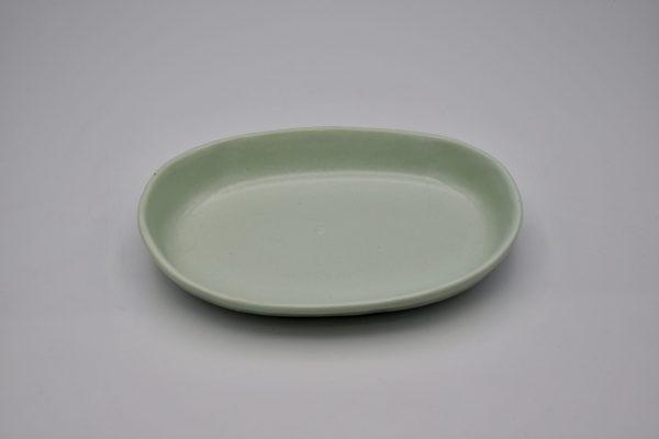 楕円浅鉢(薄グリーン)