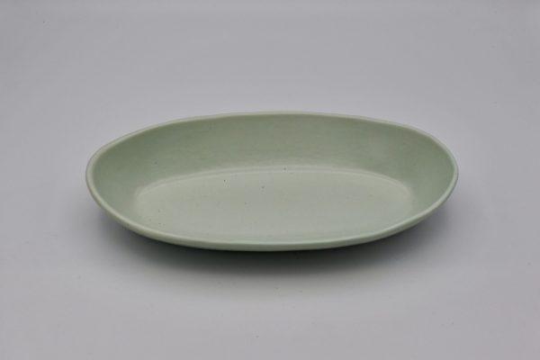 舟形鉢(薄グリーン)