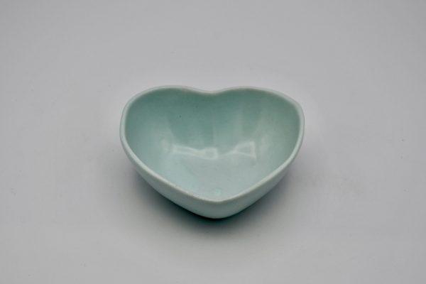 ハート型小鉢(薄ブルー)