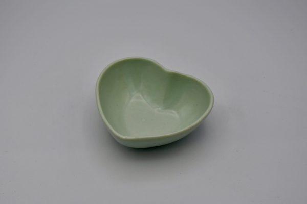 ハート型小鉢(薄グリーン)
